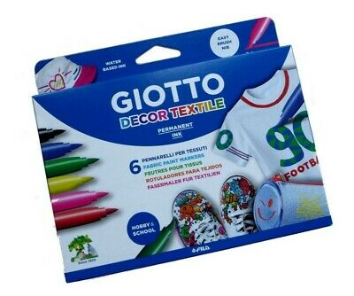 Fila Giotto Decor Textile Fabric Painting Pens - Pack of 6
