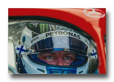 Valtteri Bottas Hand Signed 12X8 Photo - 2019 Mercedes F1 Autograph.