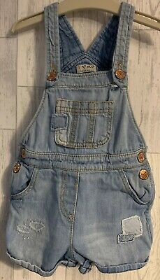 Girls Age 2-3 Years - Next Shorts Dungarees