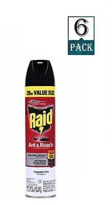Raid Ant and Roach Killer, Fragrance Free, 17.5 OZ (Pack of 6)