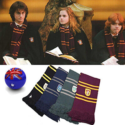 Harry Potter Adult Kid Gryffindor Robe Costume Cape Tie Scarf Cosplay LED Wand
