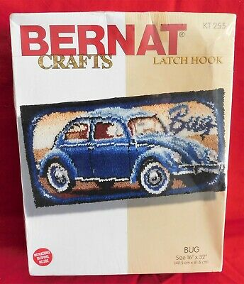 NEW Bernat Crafts KT 255 Volkswagen Beetle Bug Latch Hook **FREE SHIPPING**