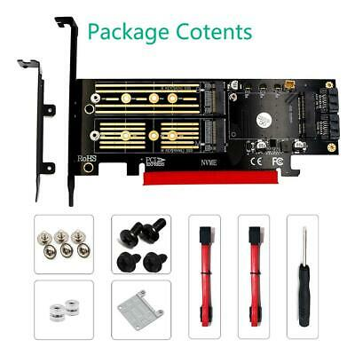 3 in1 Msata PCIE M.2 NGFF NVME SATA SSD to PCI-E 4X SATA3 Adapter Expansion Card
