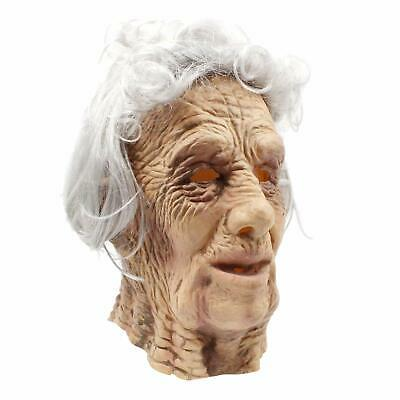 PartyHop - Old Man Mask - Realistic Halloween Latex Human Wrinkle Face Mask B...