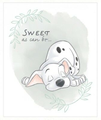 Disney 101 Dalmations Quilt Panel * Sweet As Can Be * New * Free Post *