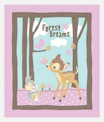 Bambi Forest Dreams Quilt Panel * Free Post * Sweet *