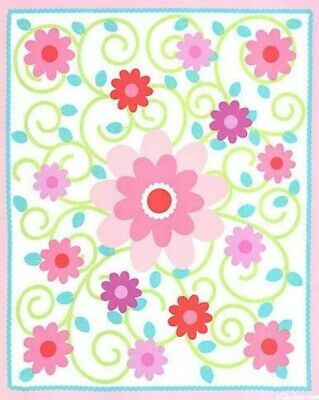 Dilly Dally Baby Quilt Panel * New * Free Post * Simply Sweet *