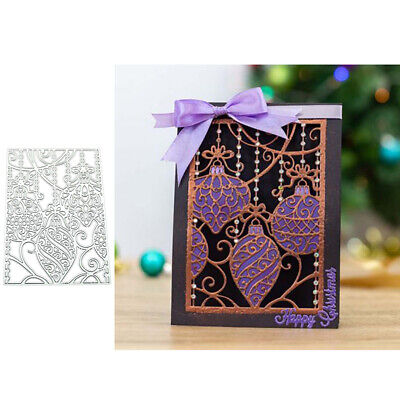 Baubles Ornament Metal Cutting Dies DIY Scrapbooking Paper Cards Craft Decor*