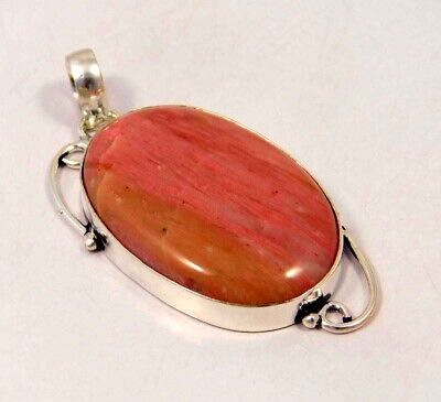 Pink Calcite .925 Silver Plated Handmade Pendant Jewelry JC6103