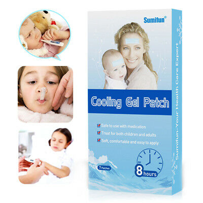 Sumifun 7Pcs/set Menthol Cooling Gel Patch Physical Child/Adult Fever Reducer IO