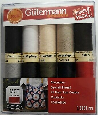 Gutermann Sew-All Polyester Sewing Thread 100m  Reel Hand and Machine Sewing