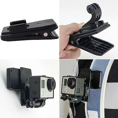 BH_ FT- 360°Chic Rotary Backpack Hat Rec-Mounts Clip Clamp Mount for GoPro Hero