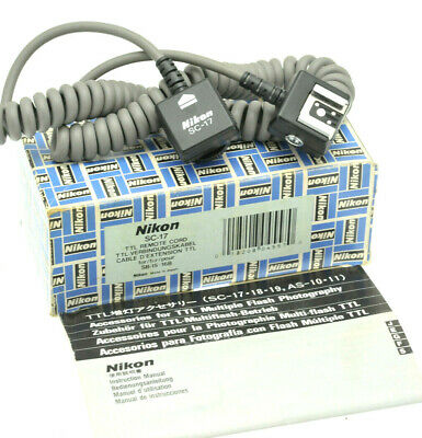 Original NIKON SC-17 TTL Sensor Remote Cord For NIKON SPEEDLIGHT - Boxed