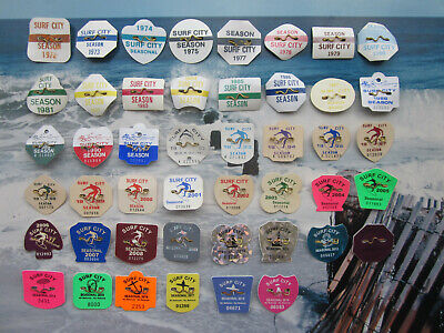 46   Year  Collection   Surf  City  New   Jersey  Seasonal   Beach   Badges/Tags