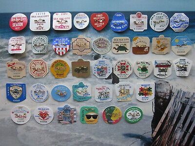 40  Year  Collection  Sea  Isle  City  New  Jersey  Seasonal  Beach  Badges/Tags