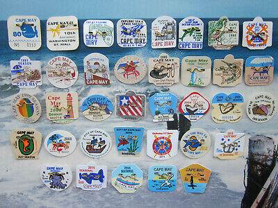 36   Year  Collection  Cape   May   New   Jersey  Seasonal   Beach   Badges/Tags