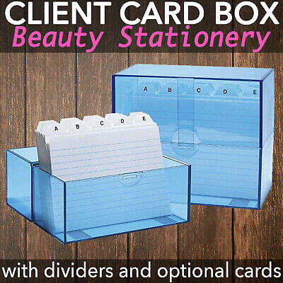 Client Record Card Box for A6 Cards with Deviders and Optional Cards