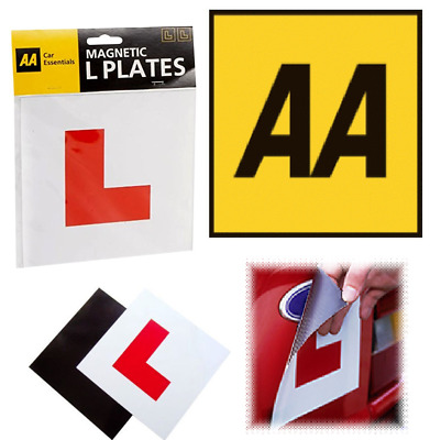 AA FULLY MAGNETIC L PLATES - Pair Of Car Learner Plates (66)
