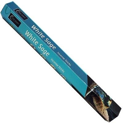 40 Sticks (2 Boxes x20 Sticks) - WHITE SAGE INCENSE STICKS-New Moon-Hexagonal
