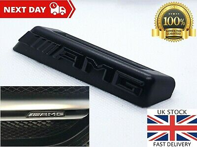 Mercedes AMG Black Front Grille Grill Badge ABS OEM A C E S CLA CLS E63