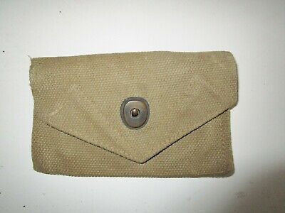 Vintage U.S. Military Army WWII? WWI? Belt Clip Pouch Ammunition Ammo case gear
