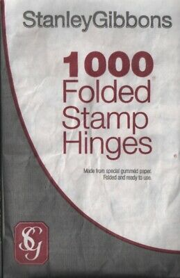 Stamp hinges - Stanley Gibbons Pack of 1,000 folded stamp hinges R2551