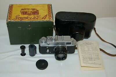 Zorki-4 EXPORT 1972 Soviet Rangefinder Camera. Jupiter-8. BOX. 72033375. UK Sale