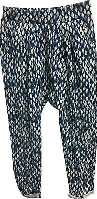 PRE-OWNED Girls Next Blue Patterned Trousers Size 2-3 Years