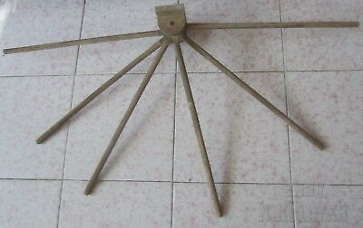 Antique primitive wood wall  arm clothes dryer rack  with 6 arms