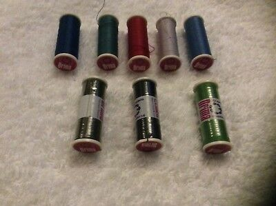 NOS Coats Drima All Purpose Thread 100/% Polyester Box of Six Each Spool 120 yds