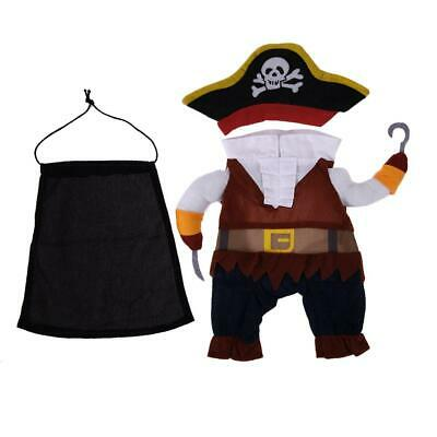 Pet Clothes Cosplay Pirate Dogs Cats Halloween Costume Cool Pets Clothing NI5L