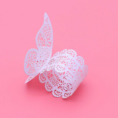 50Pcs Paper Napkin Ring Exquisite Creative 3D Butterfly Napkin Ring for Birthday
