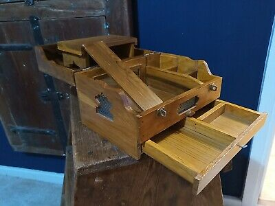Interesting Small Vintage Antique Wooden Display Case Box DollPet House!?