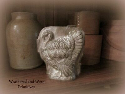 """Primitive Country Resin Faux Thanksgiving Fall Turkey Chocolate Mold 6"""" T x 5.5"""""""