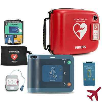 Philips Heartstart Onsite AED M5066A 2021 Pads 2022 Battery Two Year Warranty