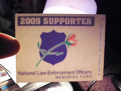 Bumper Sticker,Decal 2009 supporter national law enforcement memorial fund rose