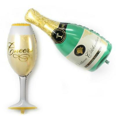 Champagne Cup Shape Helium Balloon Bottle Beer Foil Birthday Party Decor Wedding