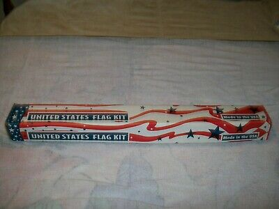 VALLEY FORGE UNITED STATES FLAG KIT/3'x5' FLAG/6 ft. ALUMINUM POLE/ EAGLE TOPPER
