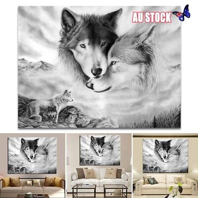 Black&White Wolf Canvas Wall Art Painting Pictures Home Hanging Picture Decor AU