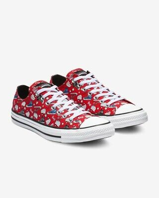 Womens Converse x Hello Kitty CTAS Ox 163913F Red/Black/White Multiple Sizes