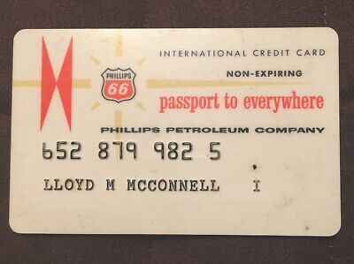 Phillips 66 Petroleum Company 1960 Vintage Collectors Credit Card Very Good Cond