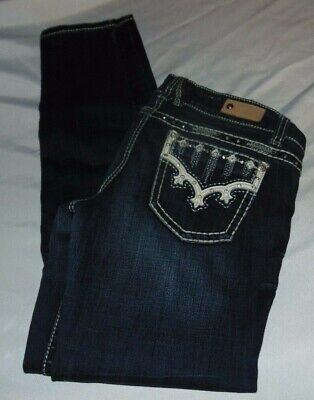 "Womens ANTIQUE RIVET Skinny Low Rise Jeans Size 27 Waist 30"" Inseam 30"""