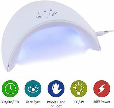 UV Light LED Nail Dryer Curing Lamp for Fingernail & Toenail Gels Based Polishes
