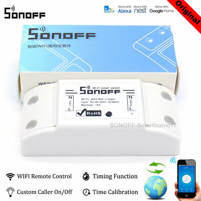 Sonoff ITEAD Smart Home WiFiWireless Switch Module Fr AppleAndroid APP Control H
