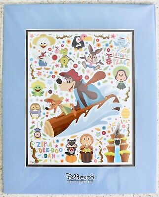 2019 Disney D23 Expo Splash Mountain Deluxe Print by Jerrod Maruyama LE 100