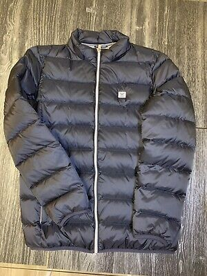 a6862c93a3 ARMANI JUNIOR DOWN Puffer Coat Jacket New NWOT 130 8 8Y Black Blue ...
