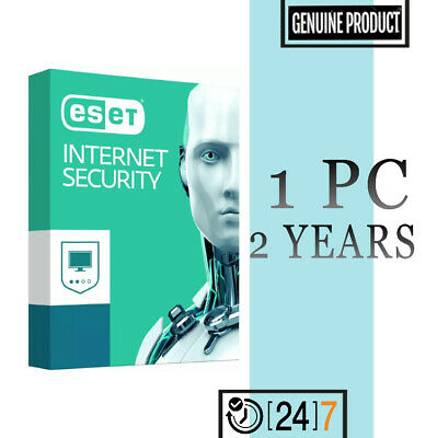 Eset Internet Security 1 PC Device 2 year License key 2019 - Download