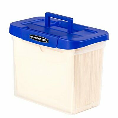 Bankers Box Heavy Duty Portable Plastic File Box with Hanging Rails, Letter,1