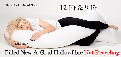 9Ft/12Ft U Pillow Extra Fill Full Body Maternity Pregnancy Support & Pillow case
