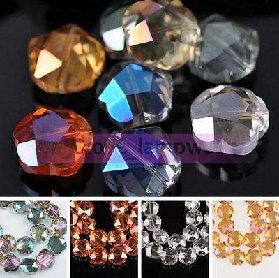 100PCS Crystal Glass Faceted Loose Spacer Beads lot 3mm 4mm 6mm DIY Jewelry New